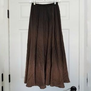 Chico's brown ombre silk maxi skirt sz. XS